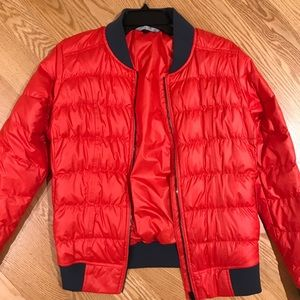 Athleta Orange/Red Down Jacket